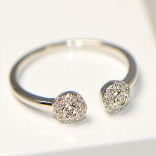 NEU Diamantring 0,17 ct in 750er Weissgold Ringgröße 54 Pavé Verlobung Brillant