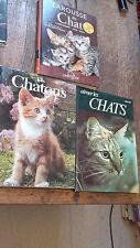 Lot de 3 livres : Larousse du chat Aimer les chats Les chatons