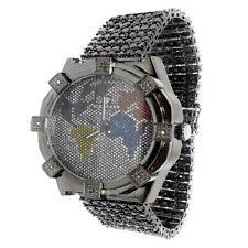 Genuine Diamond Mens Iced Joe Rodeo Jojo Jojino Black Gold Finish Custom Watch