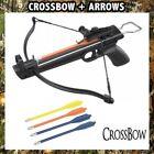 MINI COMBAT 50LB ARCHERY HUNTING PISTOL CROSSBOW w Arrow Bolts Camping Fishing
