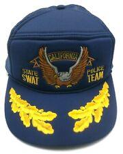 CALIFORNIA STATE SWAT / POLICE TEAM vintage blue adjustable cap / hat