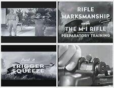 SPRINGFIELD Armory GARAND M1 RIFLE TRAINING VIDEO WWII 1942/43 DVD