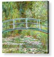 "Claude Monet Water Lilies  Bridge  Canvas Box 10""x10"", 16""x16"",  20""x20"", 24""x24"