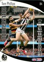 ✺New✺ 2020 COLLINGWOOD MAGPIES AFL Card TOM PHILLIPS Teamcoach