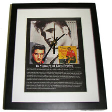 Elvis Presley. Celebrity framed print and clock.