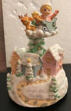 """2002 Precious Moments """"Jingle All The Way"""" Spinning Music Box Plays Jingle Bells"""