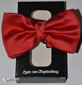 Papillon Cravatta a Farfalla EGON VON FURSTENBERG rosso Farfallino
