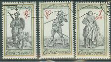 Tschechoslowakei Briefmarken 1983 Kostüme auf alten Stichen Mi.Nr.2742-44