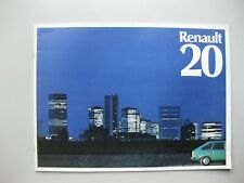 Renault 20 prestige brochure Prospekt French text langue française 16 pages 1976
