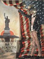 "*Postcard-""Hurrah!!--July Fourth 1776""    ..*Classic"