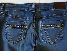 DKNY {Size 10P} East Side Jeans Straight Leg Studs and Zippers NICE