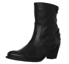 FRYE Women's Jackie Zip Short Boot, Black, 6.5 M US