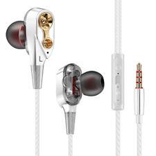 7D HIFI In-Ear Earphone Dual Dynamaic Driver Headphone Bass Stereo Headset