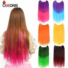 """LEEONS 22"""" Invisible Wire Flip in Hair Extensions No Clips in Hair Extensions"""