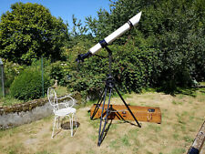 Carl Zeiss Asadul telescope from circa 1914 with tripod, timer and wooden box