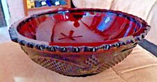 """Avon Ruby Red 1869 Cape Cod Collection 85034 Round Serving Bowl 8 1/2"""" Diam."""