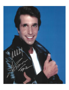 "Fonzie Happy Days 8x10"" - Various Quotes Signed by Henry Winkler 100% With COA"
