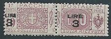 1923-25 REGNO PACCHI POSTALI 3 SU 10 LIRE MNH ** - ED776-3