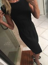 Betsey Johnson Stretch Faux Leather Cap  Dress Xs 2  Vtg Style  PinUp