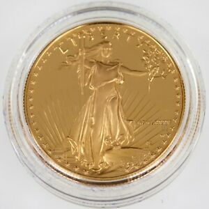 1986-w Gold 1 Oz. American Eagle Proof w/ Box, Case, and CoA