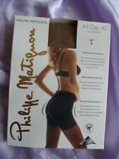 Philippe Matiguon All Day 40 Den Lycra Semi Opaque Control Top Tights Small Tan