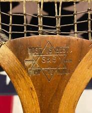 Vintage 1920s S&S 'Best Is Best' Wood Tennis Racquet Driver Model Antique Rare
