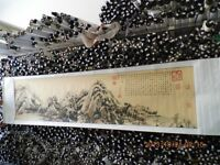 Traditional Chinese Painting Scroll Antique Mountain Landscape Collection Gift