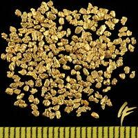 1 Gramm  Gold-Nuggets Alaska 1 mm + ZERTIFIKAT 20-23 Karat Barren Münze Schmuck