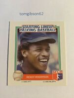 1988 Starting Lineup Talking Baseball Rickey Henderson #23 Free Shipping