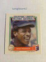 1988 Starting Lineup Talking Baseball Rickey Henderson #23 Free Shipping