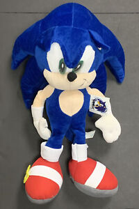 "Sega Sonic The Hedgehog 22"" Plush Figure Sets Blue 1991-2005 Toy Network Tags"