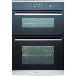 CAPLE SENSE C3370 SS  STAINLESS AND BLACK GLASS DOUBLE OVEN - LOWEST UK PRICE
