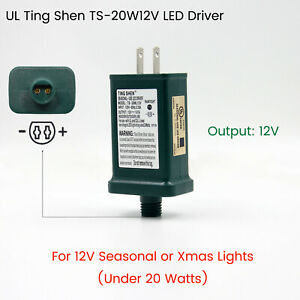 Ting Shen TS-20W12V LED Adapter Transformer 12V Power Supply for 12V Xmas lights