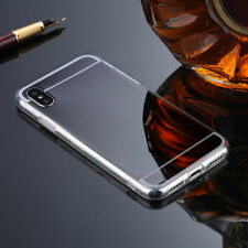 Luxury Mirror Clear Soft TPU Bumper Hard Back Case Cover For iPhone x 8 6 7 Plus