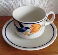 RARE MINT Churchill PALOMA Blue Bird Flowers Fruit CUP AND SAUCER SET
