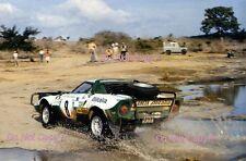 Bjorn Waldegard ALITALIA LANCIA STRATOS SAFARI RALLY 1975 FOTOGRAFIA