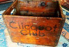 Vintage Clicquot-Club Beverages Wood Dozen 32oz Bottle Crate RARE 17Wx12Hx12W