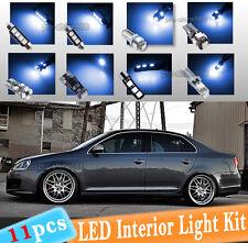 11-pc Blue Canbus LED Interior Light Bulb Package Kit Fit 2005-2010 VW Jetta MK5