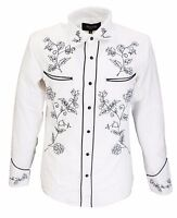 White Black Western Cowboy Vintage/retro Shirts