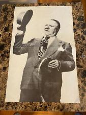 Vintage WC Fields Poster (Raffle Tickets ??) 11x17 B&W Paper Unknown Year