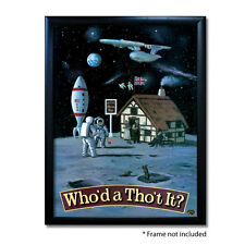 WHO'D A THO`T IT PUB SIGN POSTER PRINT | Home Bar | Man Cave | Pub Memorabilia