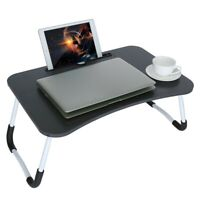 Wood Lap Tray Serving Breakfast Desk Laptop Table Sofa Notebook Bed Folding
