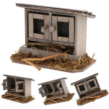 IG_ Wooden Doll House Simulation Chicken Coops Miniature Landscape Decoration 1/