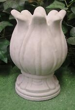 Fluted Tulip Fountain Top Finial Latex Fiberglass Production Mold Concrete