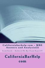 Californiabarhelp Com - MBE Answers and Analysis(2) : Look Inside - Authored...