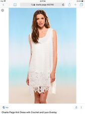 Charlie Paige Knit Dress With Lace Overlay L/XL