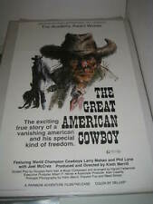 THE GREAT AMERICAN COWBOY (1974) US AUTHENTIC ORIGINAL 27x41 MOVIE POSTER (468)