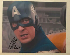 "Chris Evans ""Captain America"" Hand Signed Autographed 8x10 Photo w/COA! RARE!"