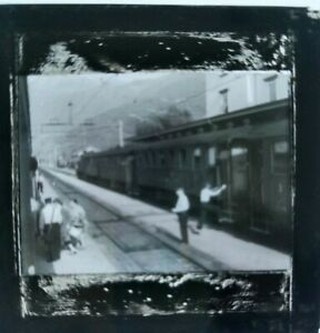 Vintage Slide, Train in Station, People Dis-Embarking, Possibly Cadenazzo, #2