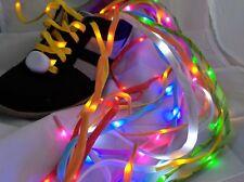 Yellow LED Shoelaces - Lightup Running, Night Walk, Cycle Safety, Stylish Lights